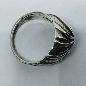 Vintage Jewelry - Vintage Sterling Textured Pinwheel Swirl Dome Ring